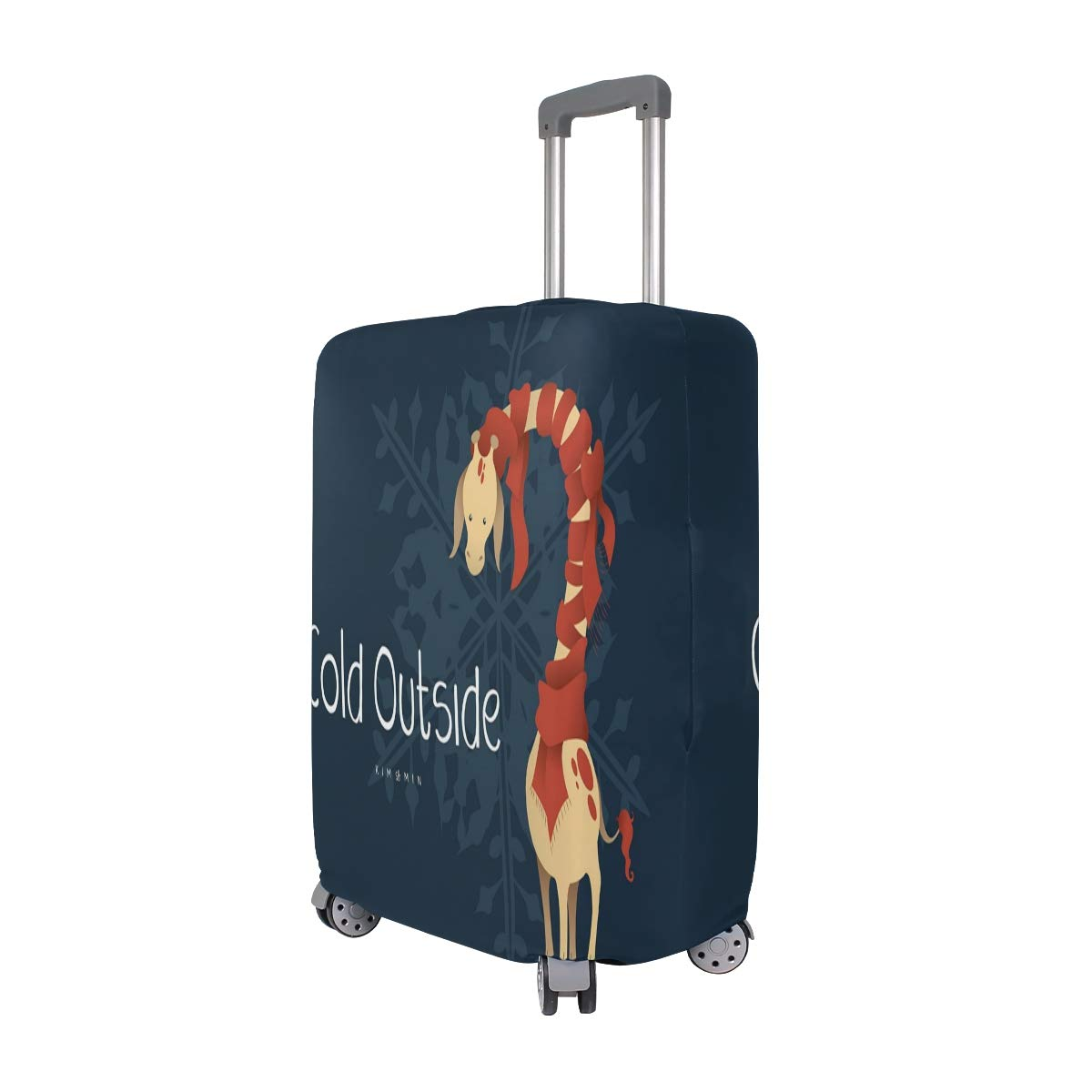 Cold Outside Giraffe Scarf suitcase cover elastic suitcase cover zipper luggage case removable cleaning suitable for 29-32 trunk cover