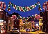 GKI Bethlehem Lighting Commercial Grade LED Lighted Zurich Swag Christmas Decoration Display, 11'