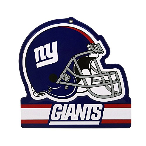 - Party Animal New York Giants Embossed Metal NFL Helmet Sign, 8