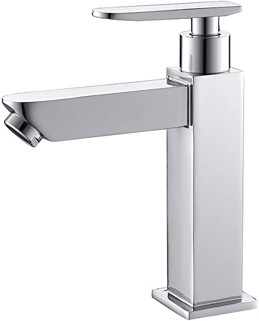 Edelstahl Bad Wasserhahn Waschtischarmatur Kaltwasser Armatur Küche Standventil