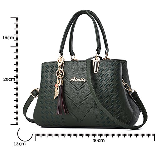 Handbags Ladies Shoulder Bag Online Green Bags Sale Women Designer Tisdaini for Dark Leather qtdA44w