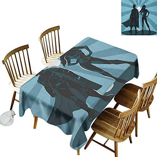 Rectangular rectangular round tablecloth W50