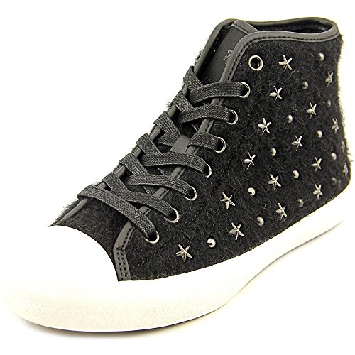 Coach Women's Emerald High Top Fashion Sneaker, Black Star, Size ()