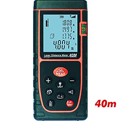 Smtni Portable Handle Digital Laser Distance Meter 40m, High Accuracy and Wide Measuring Range with Bubble Level Large Backlit LCD,Measuring up to 40m(0.16 to 131ft)