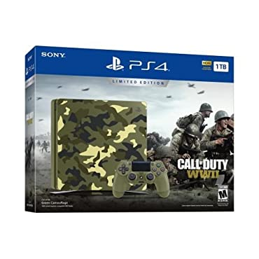 PlayStation 4 Slim 1TB Limited Edition Console Call of Duty WWII Bundle [Discontinued]