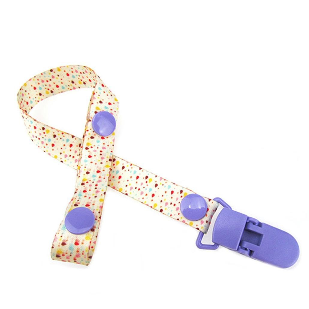 SUNBIBE 1PC Baby Pacifier Chain Clip Holder Nursing Teether Dummy Soother Nipple Leash Strap (F)