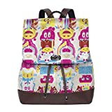 Cartoon Adventure Time Womenâ€TMs Backpack PU Leather Shoulder Bag For Ladies Waterproof Casual
