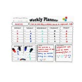 Reliatronic Weekly Fridge Calendar, Premium Dry Erase Calendar White Board Planner Suitable for Writing Planners, Schedules and Notes