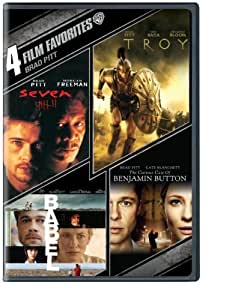 4 Film Favorites: Brad Pitt (The Curious Case Of Benjamin Button, Babel, Troy, Seven) by Warner Home Video