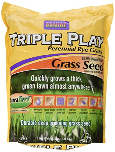 Bonide 60271 Triple Play Rye Grass Seed, 3-Pound