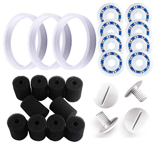 - Wadoy Pool Cleaner Replacement for Polaris 180, 280, 360, 380, C60, C-60 Including 10pcs Density Sweep Hose Scrubber, 3pcs Pool Cleaner Tires, 8pcs Wheel Ball Bearings and 4pcs C55 Wheel Screw