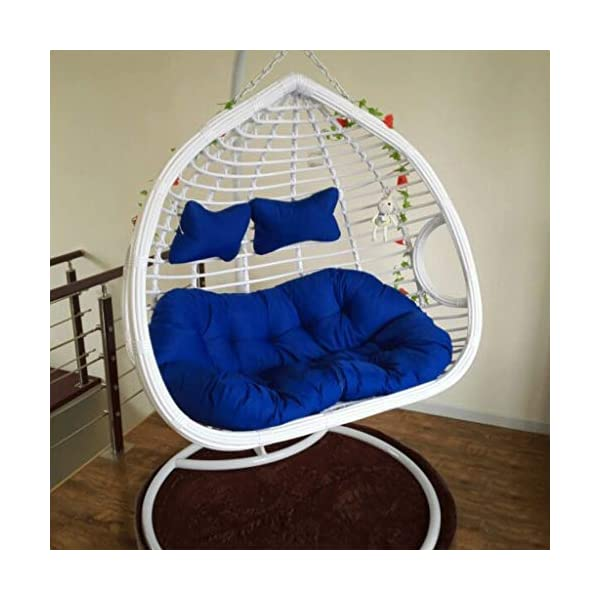 HLDBW Nid d'oeufs en Forme de Coussin Coussin de Panier en Osier rotin tampons d'oscillation Pendaison hamac Suspendu 2 Personnes siège Zipper Lavable sans chaises (Color : B) 1