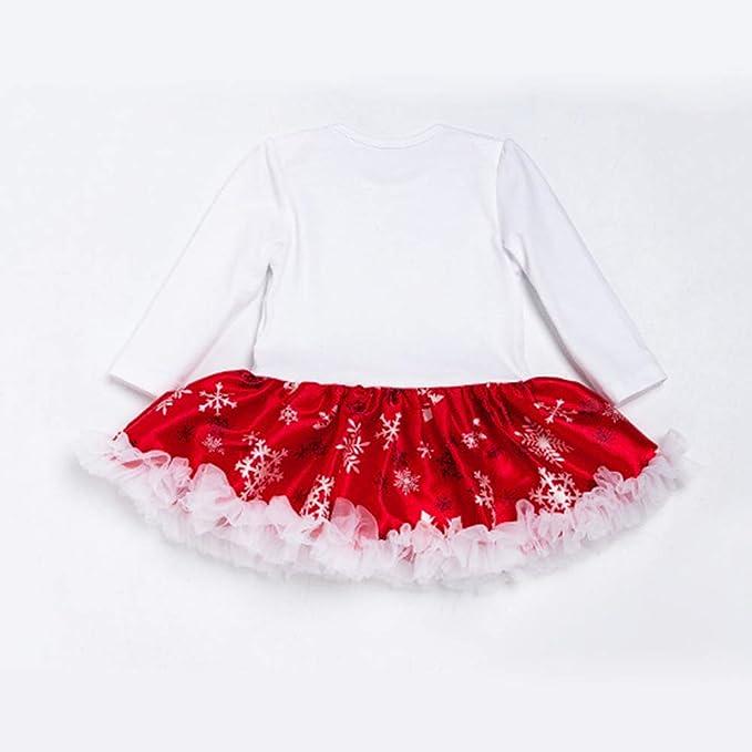 a3d0598df1c8 Amazon.com  RONSHIN 4pcs Christmas Baby Jumpsuit Dress + Hairband + ...