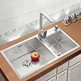 Stainless Steel Kitchen Sink Double Bowl 28 Inch