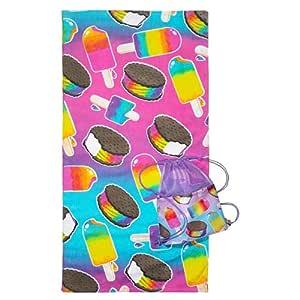 3c4g Cotton Ice Pop Towel Sling Bag - Multi Color