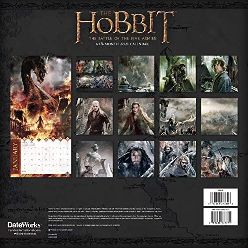 The Hobbit Calendar 2021 Bundle   Deluxe 2021 The Hobbit Wall