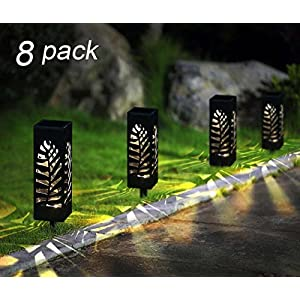 Maggift 8 Pcs Solar Pathway Lights Solar Garden Lights Solar Lights Outdoor for Lawn, Patio, Yard, Walkway, Landscape