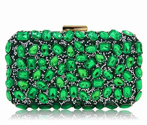 da a sera verde Borsa arancione Blue colore tracolla oro a tracolla notte shopping borsa per donna donna Bridge qfFndF