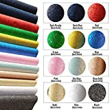 """Shiny Glitter Fabric Sheets【12 PCS】【7.5"""" x12""""】Perfect for Creative DIY Craft Hobbies,Make Hair Bows Clips/Headband/Brooches/Phone Case/Wallet/Handbags Decoretion,Dressing Sewing Projects,Assorted Colo"""
