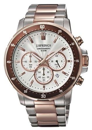 J. Springs Herren-Armbanduhr Sports chronograph Quarz Edelstahl BFC003