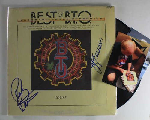 "Randy Bachman & C.F. Turner Signed Autographed BTO ""Bachman-Turner Overdrive"" Record Album w/ Signing Photos by..."