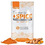 v tea Turmeric Spice Anti-Inflammatory Tea: Support Joint Health. 100% Organic – 14 Pyramid Sachets. Review