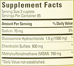 Nature Made Triple Flex, Glucosamine 1500 mg, Chondroitin 800 mg, MSM 750 mg, 120-Caplets