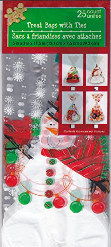 Christmas House Treat Bags with Ties (25 Count Pack) (Snowman) by Christmas House