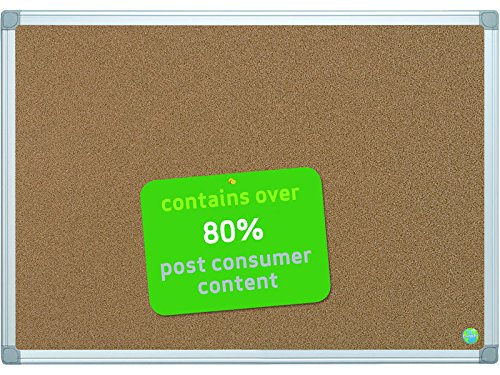 'Bi-Office Eco-Friendly Cork Board with Aluminium Frame/Earth It Samsung S4 Case Cover 60x45 cm brown CA021790