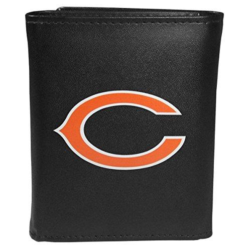 Siskiyou Sports NFL Chicago Bears Tri-fold Wallet Large Logo, Black