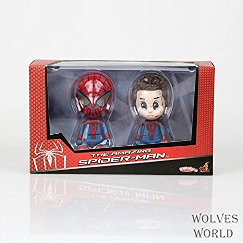 Anger Cute The Amazing Spider-Man Spider Man Peter Parker Spiderman Boxed Action Figure Collection Model Toy - Pokemon Attack Action Bases