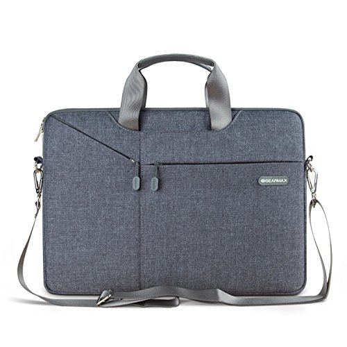 Laptop Notebook Sleeve, Waterproof Shoulder Bag Simple Style Messenger Bag / Notebook Computer Sleeve Case Bag/ Handbag for Macbook Air / Pro Retina, Microsoft Surface Pro 4 / 3 (Grey 13