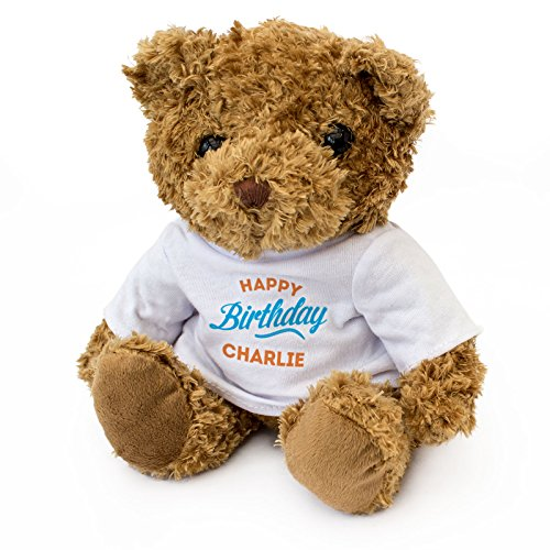 NEW - HAPPY BIRTHDAY CHARLIE - Teddy Bear - Cute Soft Cuddly - Gift -