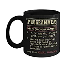 Programmer Coffee Mug - Programmer Is A Person Who Solved Problem You Can't - Best Gifts For Friends, Women, Men - Funny Coffee Mugs, Tea Cup