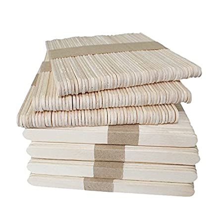 KINGLAKE 150 Pcs 6 Wood Garden Plant Labels,Natural Wood Craft Sticks for School Projects,Home Decoration