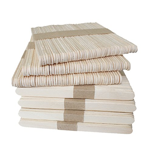 KINGLAKE Natural Wood Craft Sticks,Wood Popsicle Sticks For Crafts,300 Pcs 4.5 Inch Ice Cream Sticks