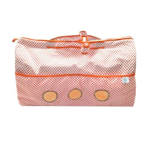 Câlin Câline Nina 105.09 - Bolso de viaje, diseño de lunares con círculos bordados, color naranja, rojo y blanco