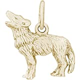 Rembrandt Charms Wolf Charm, 14K Yellow Gold