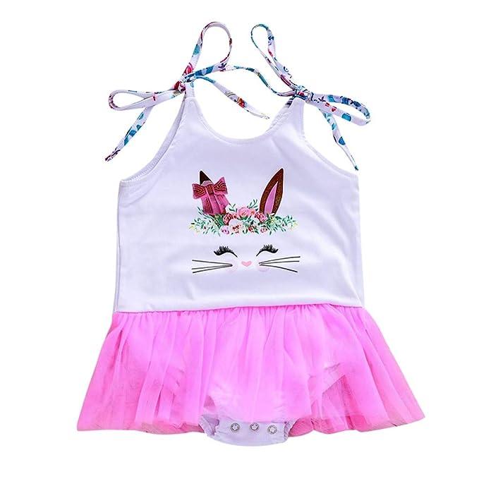 Luckycat Ropa para Bebé, Niños Bebé Niña Dibujos Animados Conejito Princesa Patchwork Sudadera Tul Ropa de Vestir: Amazon.es: Ropa y accesorios