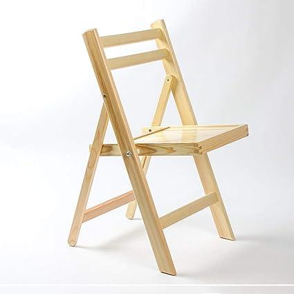 Silla plegable de madera maciza Silla de comedor para el ...