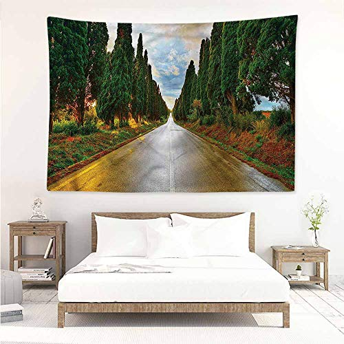 Sunnyhome Tapestry Hippie,Italian Europe Country Village,Occlusion Cloth Painting,W80x60L