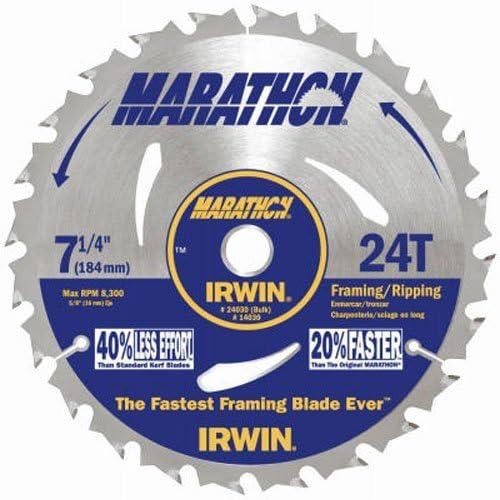 Irwin Tools Marathon Carbide Corded Circular Saw Blade