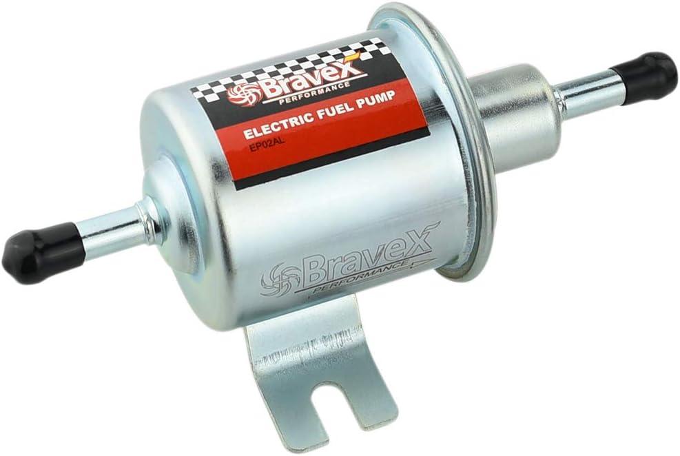 2.5-4 PSI Universal 12V Low Pressure 2.5-4 PSI Gas Diesel Inline Electric Fuel Pump HEP-02A