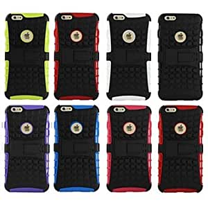 YULIN 5.5 Inch TPU Case with Holder for iPhone 6 Plus (Assorted Colors) , Red