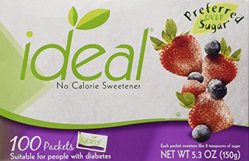 Ideal No Calorie Sweetener 100 Count Pack of 2 from Ideal