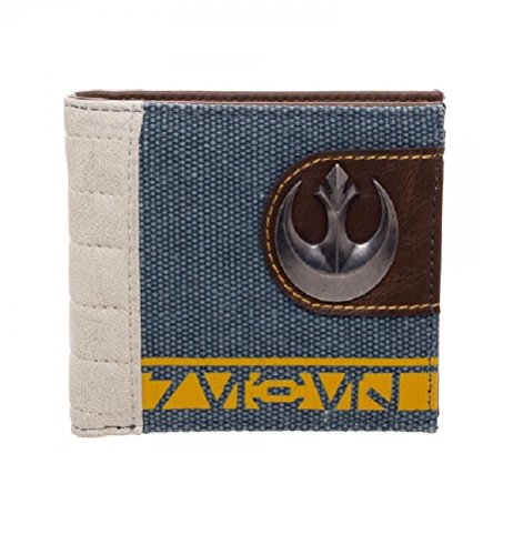 bioworld-mens-star-wars-rogue-one-rebel-mixed-material-bi-fold-wallet-blue-one-size