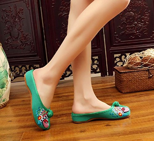 Green Lazutom pour Lazutom Chaussons pour Lazutom Chaussons Femme Femme Chaussons Green pour Femme Green AwRqzE1
