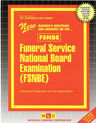 Funeral Service National Board Examination (FSNBE) (Passbooks) (Admission Test Series)