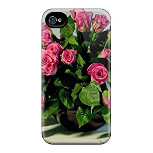 Fashion EUlTLVs6654XPQmE Case Cover For Iphone 4/4s(bouquet Of Fresh Roses)