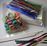 1000pcs X (6'' Lollipop Sticks + 3'' X 5'' Bags + Twist Ties) for Cake Pops